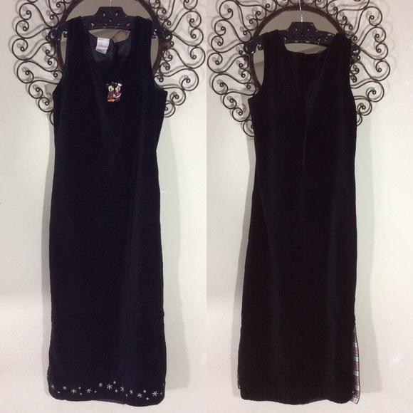 Disney Dresses & Skirts - SOLD PLATOS Disney Christmas Dress Black Velvet